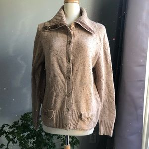 Casual, cozy, Eddie Bauer brown cardigan sweater